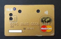 Gold Master Card Nova Ljubljanska Banka  Slovenia Credit Card - Cartes De Crédit (expiration Min. 10 Ans)