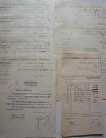CHARBONNAGE Carabinier PONT DE LOUP Châtelet Châtelineau Charbon FACTUREx7 + 31 Chèques 1910 Et 1919 - Belgique