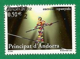 Andorra / Spanische Post  2002  Mi.Nr. 290 , EUROPA CEPT Zirkus - Gestempelt / Fine Used / (o) - 2002