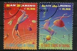 San Marino  2002   Mi.Nr. 2018 / 2019 , EUROPA CEPT - Zirkus - Gestempelt / Fine Used / (o) - Europa-CEPT
