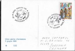 ANNULLO SPECIALE - FABRIANO (AN) - 03.06.1990 - 45° FONDAZIONE AVIS - SU CARTOLINA MANIFESTAZIONE - Salute
