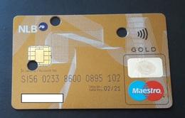 Gold Maestro Card  Nova Ljubljanska Banka  Slovenia Credit Card - Cartes De Crédit (expiration Min. 10 Ans)
