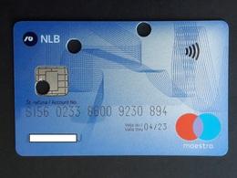 Maestro Card Nova Ljubljanska Banka  Slovenia Credit Card - Cartes De Crédit (expiration Min. 10 Ans)