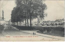 Namur.  -   Le Pont De Meuse Et La Chaussée De Dinant.   1900  Naar  Berchem - Namur