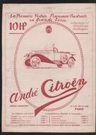 Pub 1919 Voiture Automobile ANDRE CITROEN 10 HP Torpedo Dos  MICHELIN Champs De Bataille - Advertising