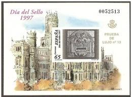 PRUEBA OFICIAL Nº 62 (EDIFIL)  - DIA DEL SELLO 1997 - PRUEBA DE LUJO Nº 13 - OFERTA POR LIQUIDACIÓN - 1991-00 Nuevos & Fijasellos
