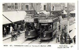 YARMOUTH CARS AT YARMOUTH MARKET 1922  - NVG FP - C985 - Cartoline