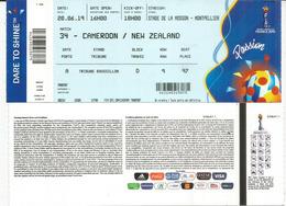 WOMENS WORLD CUP FOOTBALL.2019.CAMEROON.NEW ZEALAND Stade De La Mosson.Montpellier 20 June 2019. Ticket In New Condition - Apparel, Souvenirs & Other
