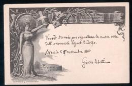 CARTOLINA COMMEMORATIVA DELLE NOZZE DEI REALI D'ITALIA - TIMBRO DEL 1896 DI TOSCOLANO MADERNO - Brescia