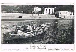 Napoli Bagnoli Spiaggia Di Coroglio Animata Barca  1908 - Napoli (Naples)