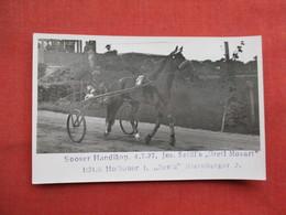 RPPC Horse Racing Trotter     Ref 3448 - Autres