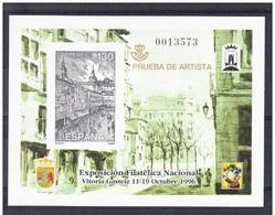 PRUEBA OFICIAL Nº 61 (EDIFIL)  - EXFILNA 1996 VITORIA - PRUEBA DE ARTISTA - OFERTA POR LIQUIDACIÓN - 1991-00 Nuevos & Fijasellos