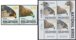 2019 - BOSNIA AND HERZEGOVINA SERBIAN - EUROPA  CEPT - UCCELLI / BIRDS.  MNH. - 2019