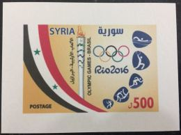 Syria 2016 MNH Rare S/S Souvenir Sheet, Rio Olympic Games - Syria