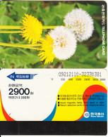 SOUTH KOREA - Flowers, Dandelion(reverse Letter J, W3000), 12/92, Used - Korea, South