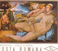 "Rumänien, 1971, 2952 Block 87, MNH **,   Aktgemälde:   ""Venus Und Amor"" - Blocs-feuillets"
