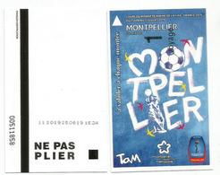 TaM - Transports De Montpellier Méditerranée Métropole, WOMENS WORLD CUP FOOTBALL.2019. Ticket In New Condition - Habillement, Souvenirs & Autres