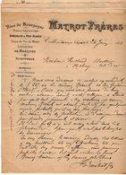 VP15.352 - 2 Lettres - Affaire Mme ROHANT à PARIS Contre MATROT Frères à EVELLE Par NOLAY - Colecciones