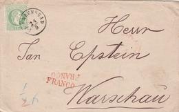 Autriche Lettre Franzenbad Pour La Pologne + Griffe Franco - Briefe U. Dokumente