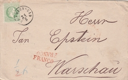 Autriche Lettre Franzenbad Pour La Pologne + Griffe Franco - 1850-1918 Empire