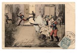 """. CPA.humour,militaires,soldat ."""" La Bombe """" Petites Femmes,french Cancan.érotique.erotic         .E.56 - Humoristiques"""