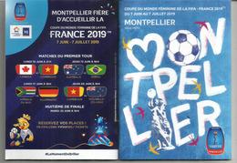 Coupe Du Monde Féminine De La FIFA.WOMENS WORLD CUP FOOTBALL.2019.Montpellier. Carnet De 32 Pages Blanches - Apparel, Souvenirs & Other