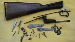 Lot De Pieces Detachees Fusil A Broche - Armes Neutralisées