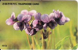 SOUTH KOREA - Flowers(reverse Letter K, W2000), 01/94, Used - Korea, South