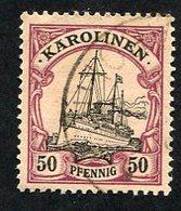 Allemagne, Colonie Allemande, Carolines, Karolinen, N°14 Oblitérés, Qualité TB - Colonie: Carolines