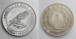 AC - LAMMERGEYER GYPAETUS BARBATUS BIRDS OF ANATOLIA - TURKEY COMMEMORATIVENICKEL  COPPERCOIN UNCIRCULATED TURKEY 2018 - Turkey