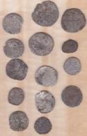 Lot De Monnaie Médiéval, Seigneuriale à Identifier Billon/argent - 476-1789 Monnaies Seigneuriales