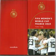 Deutscher Fußball-Coach & Player Portraits. 92-seitiges Buch Mit Fotos. FIFA.WOMENS WORLD CUP FOOTBALL.2019 - Deportes