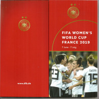 Deutscher Fußball-Coach & Player Portraits. 92-seitiges Buch Mit Fotos. FIFA.WOMENS WORLD CUP FOOTBALL.2019 - Sport