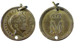 04895 GETTONE JETON TOKEN CASA SAVOIA MAREGHERITA REGINA D'ITALIA - Royal/Of Nobility