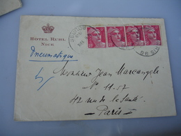Hotel Ruhl Nice Enveloppe Commerciale - 1900 – 1949
