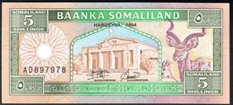 Somaliland 5 Shillings 1994 UNC - Somalia