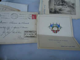 1935 Menu Comite National Chasse Avec Invitation - Menú