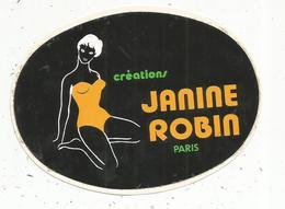 Autocollant , Pin Up , Sous Vêtements Femme ,  Créations JANINE ROBIN ,  Paris - Autocollants
