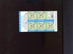 Belgie Boekje Carnet 2012 B131a Butterflies 4256 Inscriptie EUROPE - Carnets 1953-....