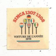 Autocollant , Automobile ,  SIMCA 1307/1308 ,  Voiture De L'année 1976 - Autocollants