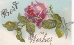 BEST WISHES - EMBOSSED GLITTERY CARD - Holidays & Celebrations