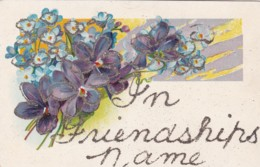 GLITTERY ' IN FRIENDSHIPS NAME '  CARD - Holidays & Celebrations
