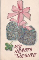 GLITTERY GREETINGS CARD - MY HEARTS  DESIRE - Holidays & Celebrations