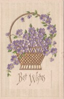 EMBOSSED BEST WISHES GREETINGS CARD - Holidays & Celebrations