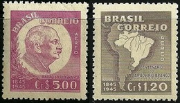 BRAZIL # C63/C64 -  Barão Do Rio Branco, Centenary Of Birth   - 2v - 1945  MINT - Unused Stamps