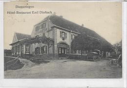 67 DIEMERINGEN . Hôtel-restaurant Emil Dierbach , Calèches , édit : Ch Hiller  , écrite Années 10 , état Extra - Diemeringen