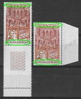 France 1968 - Variété - Double Frappe -  Petits Lits Blancs  Y&T N° 1575 ** Neufs Luxe (voir Descriptif) - Variétés Et Curiosités