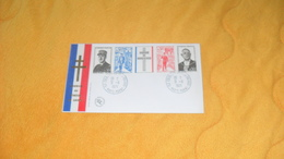 ENVELOPPE FDC DE 1971. / HOMMAGE AU GENERAL DE GAULLE....CACHETS COLOMBEY LES DEUX EGLISES  + TIMBRE - 1970-1979