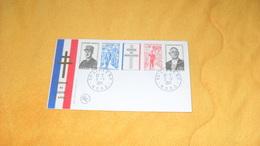 ENVELOPPE FDC DE 1971. / HOMMAGE AU GENERAL DE GAULLE....CACHETS LILLE R.P.  + TIMBRE - 1970-1979