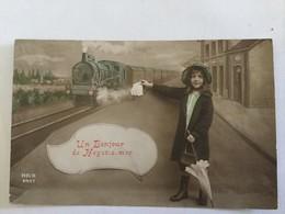 HEIST 1913  UN BONJOUR DE HEYST S/MER  ( TREIN - TRAIN ) - Heist